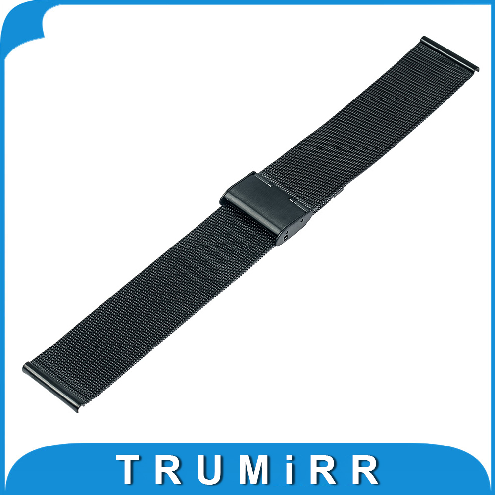 22mm Milanese Watch Band for Samsung Galaxy Gear 2 R380 Neo R381 Live R382 Moto 360 2 46mm Stainless Steel Strap Metal Bracelet milanese stainless steel watch band tool for moto 360 2 46mm samsung gear 2 r380 neo r381 live r382 replacement strap bracelet