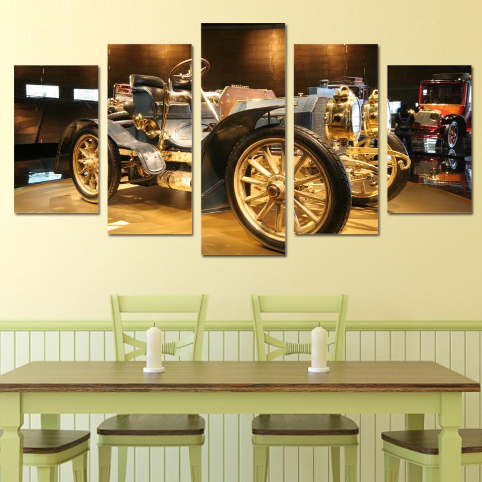 HD Printed Vintage Car Automobile Picture Painting Picutre Print ...