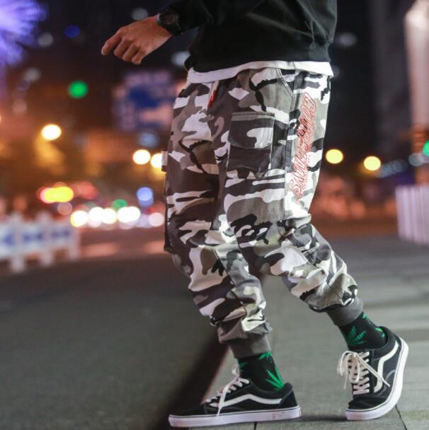 Hommes Pieds Hombre Army Pantalones De Pantalon Camouflage Homme Lâche Personnalité Mode Multi poche Cargo Green Harem xqPXz6B