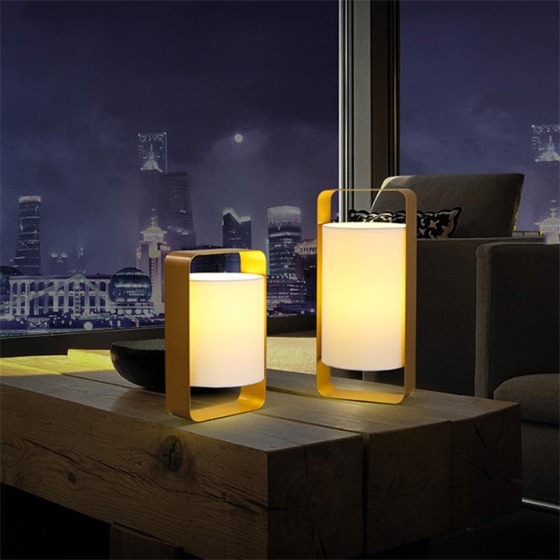 Moderní bytové dekorace stolní lampa zlatá kovová kavárna - Vnitřní osvětlení