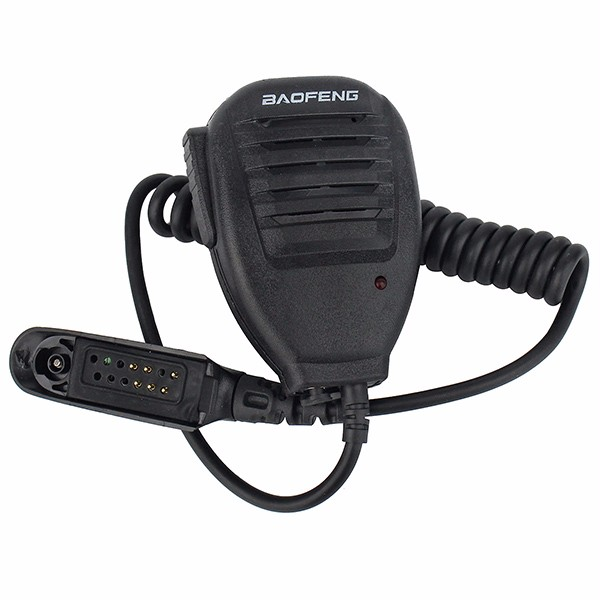 imágenes para BAOFENG Micrófono Altavoz de Mano Impermeable para Walkie Talkie BF-A58 BF-9700 UV-9R Retevis RT6 GT-3WP A58 FM de Radio de Dos Vías Transceptor