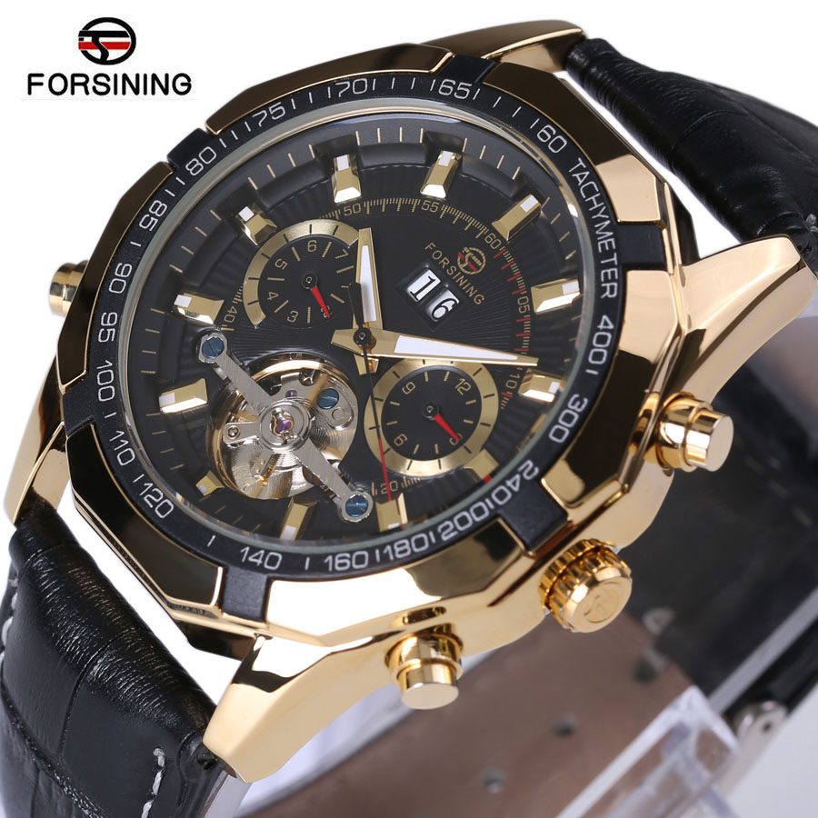 2018 Forsining Men's Watches Tourbillon Automatic Mechanical Men Wristwatch Watches Top Luxury Brand Men Relogio Masculino 2015 forsining relogio pmw342