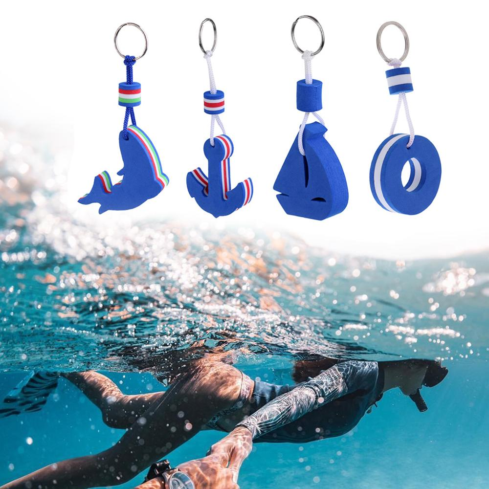 4 Pcs Yachting Boating Sailing Floating Keychain Keyring Key Ring Blue For Fishing Flatable Boat Replacement Accessories