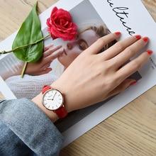 VINOCE Luxury Brand Quartz Watch Women Red Genuine Leather Strap Fashion Relogio Feminino 2019 reloj mujer Watch #9636 anne klein часы anne klein 2781svrt коллекция diamond