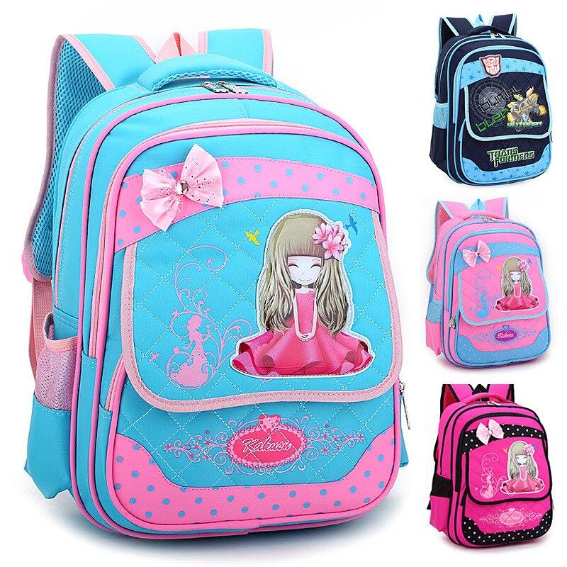 Детская Школьные ранцы Обувь для девочек мальчиков принцесса рюкзаки детская школьная Су ...