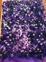 Büyüleyici büyük 18mm ile fransız tül dantel sequins moda afrika dantel kumaş mor renkte JRB-52908 için seksi elbise