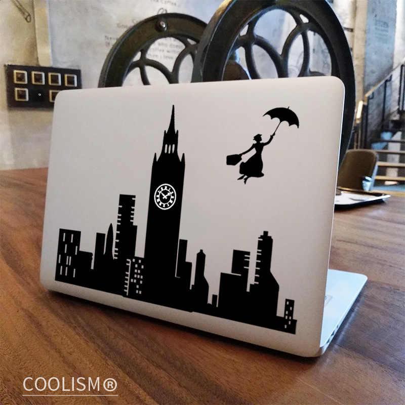 London Skyline Art Decal Decorative sticker for MacBook  laptop  wall  door  window