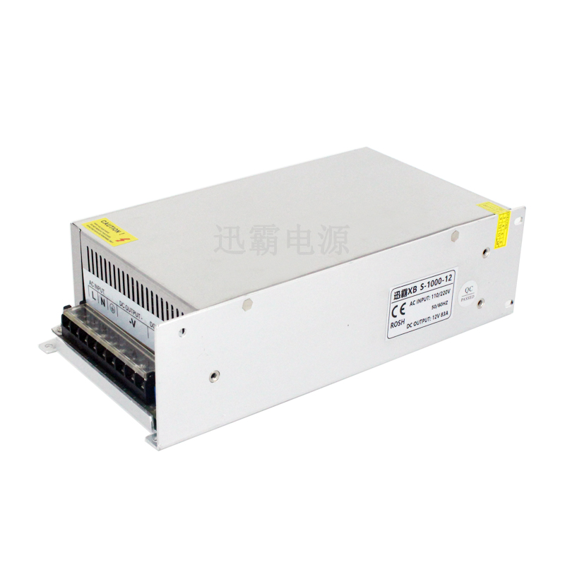 12V 83A 1000W Universal Regulated Transfomer Switching Power Supply Driver for CCTV camera LED Strip AC