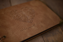 Photo Album with Leather Cover