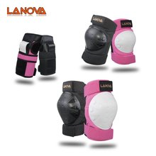 LANOVA 6pcs/Set protective gear Set Knee Pads Elbow Pads Wrist Protector Protection for Scooter Cycling Roller Skating