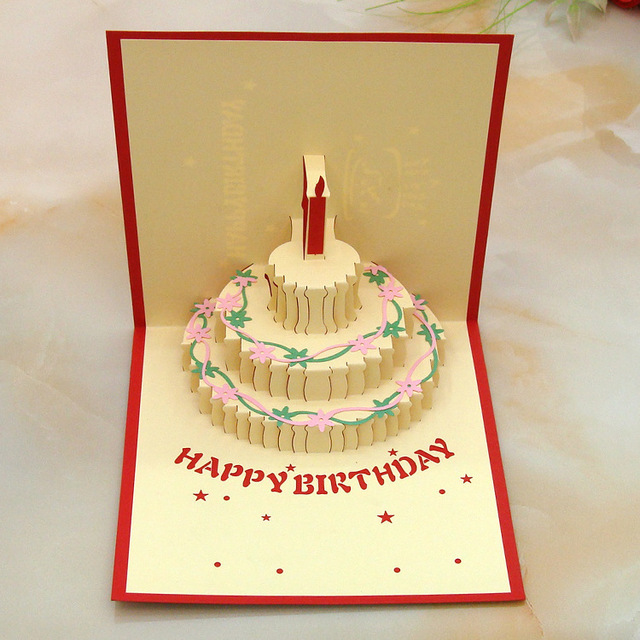 Multicolor 3d Cards Handmade Pop Up Greeting Card Happy Birthday
