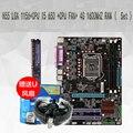 100% Nueva placa base H55 LGA 1156 CPU de escritorio I5 650 + VENTILADOR de la CPU + 4G 1600 MHZ RAM (Set) tableros placa base
