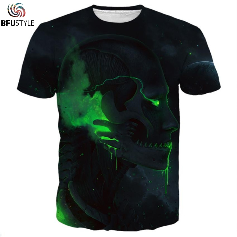 Attack On Titan Printed T-Shirt Men Fashion Skull T Shirt Poleras Hombre Casual Brand Clothing 3D Hip Hop  Tshirt Dropship