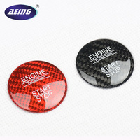1 Piece Real Carbon Fiber Engine Start Button Cover Sticker For Mercedes Benz C GLC W205