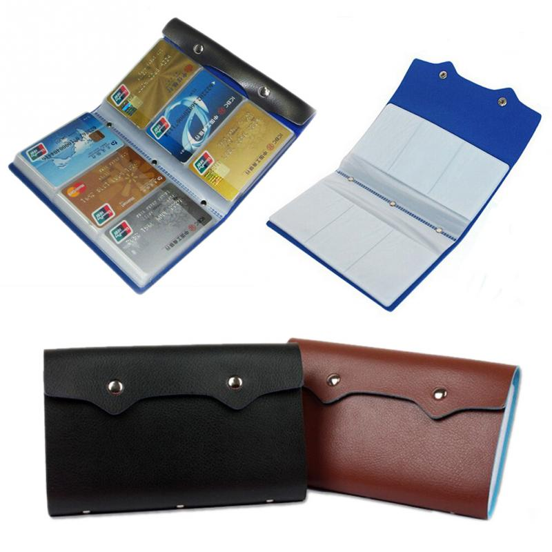 Hot Large Capacity Woman Lady Leather ID Credit Card Case Business Card Holder Pocket Bag Wallet With 108 Slots Wallets