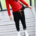 2016 spring/autumn new Korean children all-match elastic waist loose denim trousers jeans hot sale