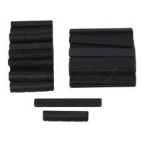 Yibuy 50x Black Ebony Bridge Saddles And Nuts For 4 Strings Guitar Replacement