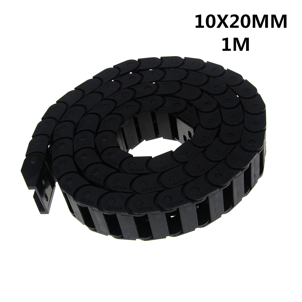 Free Shipping 10 x 20mm 10*20mm L1000mm Cable Drag Chain Wire Carrier with End Connectors for CNC Router Machine ToolsFree Shipping 10 x 20mm 10*20mm L1000mm Cable Drag Chain Wire Carrier with End Connectors for CNC Router Machine Tools