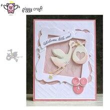 Piggy Craft metal cutting dies cut die mold Love Stork decoration Scrapbook paper craft knife mould blade punch stencils dies