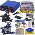 tattoo starter kit permanent makeup machine 2machines 54color inks tattoo kit YLT-84