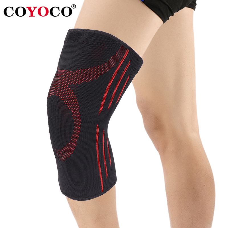 COYOCO 1 stücke Knie Brace Unterstützung Warme für Laufende Arthritis Meniskus Reißen Sport Joint Pain Relief und Verletzungen Recovery Schwarz rot