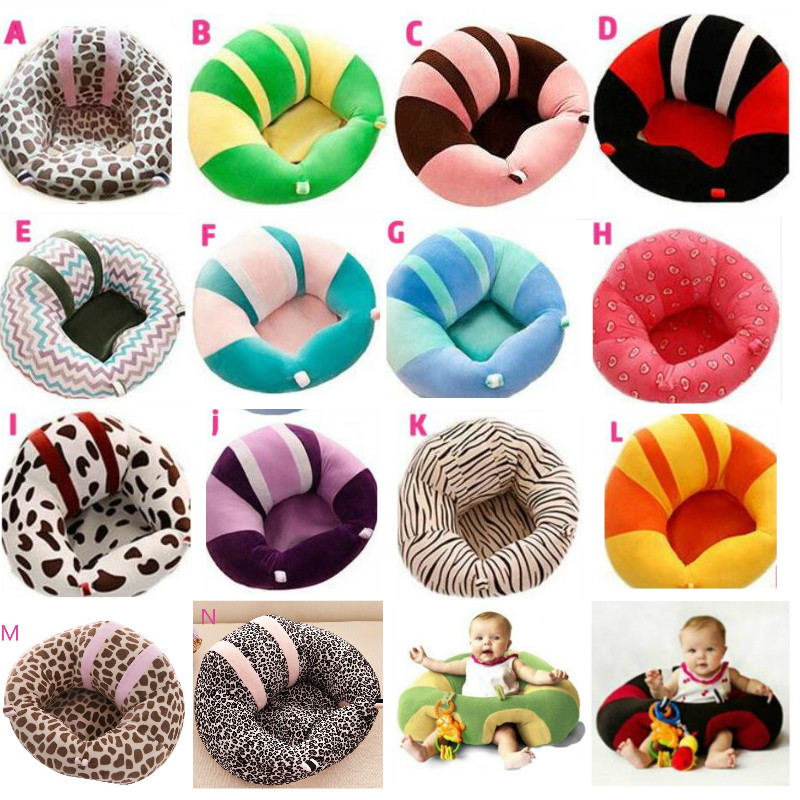 Fullfill Multi Color Baby Seat Support Seat Soft  Cotton Safety Travel Car Seat Pillow Plush Legs Feeding Chair Baby Seats Sofa