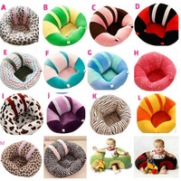 Multi Color Baby Seat Support Seat Soft Sofa Cotton Safety Travel Car Seat Pillow Plush Legs