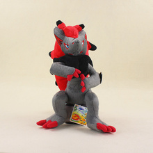 32cm Anime Zoroark Soft Plush Toy Dolls Stuffed Animal Action Figures Toys Kids Gift Brinquedos