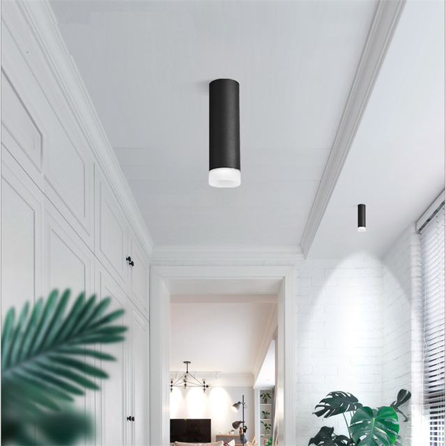 85 265vac 5 10w Led Surface Mounted Ceiling Pendant Spot Lamp Anti Glare Pmma Ring Cob Background Painting Accent Lighting