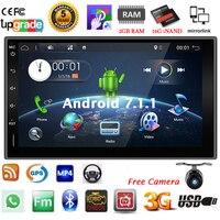 Bosion 7 Android 7.1.1 4 ядра Автомобильный мультимедийный радио 2DIN gps Navi Bluetooth SD USB Wifi 4G FMAM полный сенсорный экран Бесплатная камера