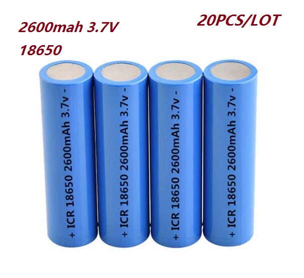 Free shipping 20PCS/LOT 2600mah 3.7V 18650 Li-ion battery rechargeable Akku Bateria For power bank LED Flashlight Torch Tool Toy материнская плата пк gigabyte ga f2a68hm ds2 rev 1 0 ga f2a68hm ds2