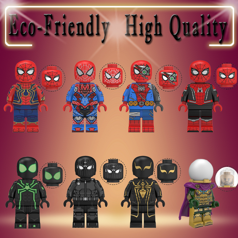 super heros Marvel Avengers Mysterio Ultimate Spider-Man Noir Gwenom Building Blocks Bricks figure Toys For Children KT1027(China)