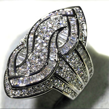 Fashion Geometry Intersect Crystal Rings for Women Girls Engagement Wed