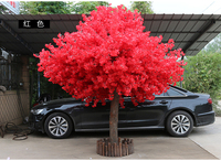 180cm tall by 150cm width red artifical peach tree/ cherry blossom tree Wedding Decoration road leads Event Props