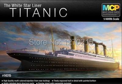 Academy MODEL 1/400 SCALE 14215 The White Star Liner TITANIC plastic model kit revell model 1 25 scale 85 7457 69 camaro z 28 rs plastic model kit