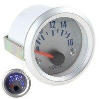 High Sensitivity 2 52mm 8 16V Blue Light Voltage Meter Gauge Voltmeter For Auto Car