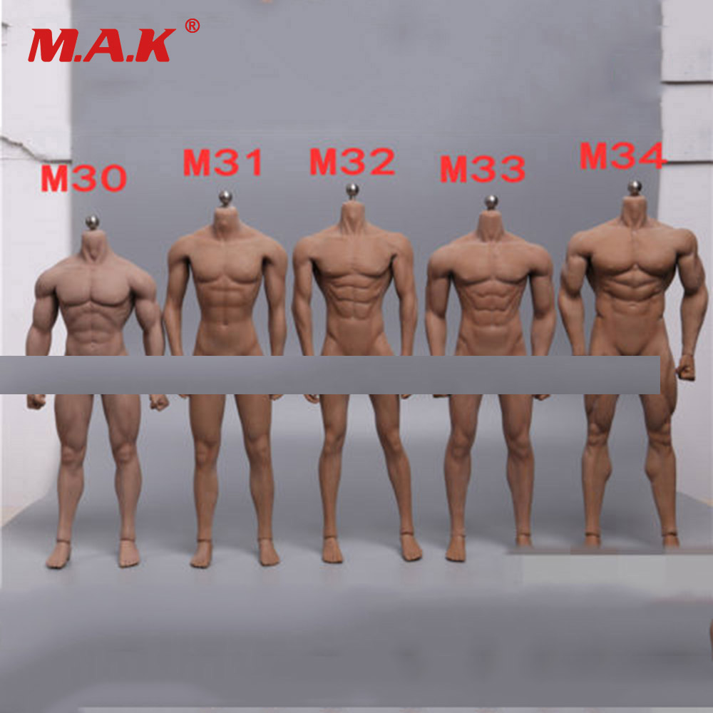 1/6 Scale Super-Flexible Male Body Figure M30 M31 M32 M33 M34 Suntan Man Seamless Body 1/6th Steel Stainless Skeleton Doll Model free shipping phicen 11inch1 6 super flexible female seamless body with stainless steel skeleton with asian head model body doll