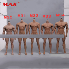 1/6 Scale Super-Flexible Male Body Figure M30 M31 M32 M33 M34 Suntan Man Seamless Body 1/6th Steel Stainless Skeleton Doll Model tbleague ph 1 12 super flexible male seamless body for 1 12th scale action figure with stainless steel skeleton
