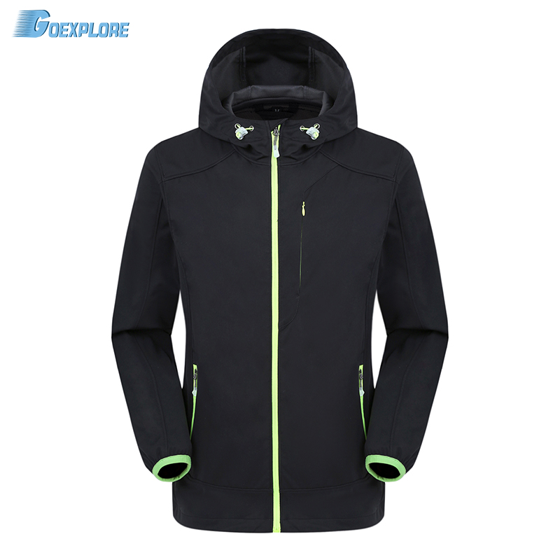 ФОТО Dropshipping 2016 New camping hiking jackets windstopper waterproof warm autumn softshell clothing outdoor softshell jacket