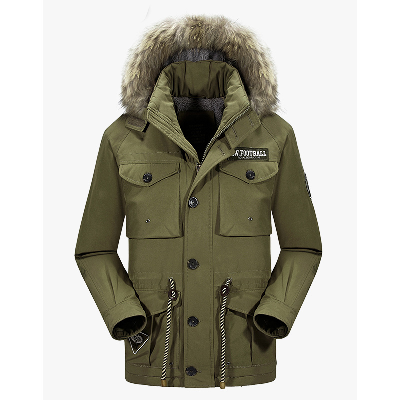 Brand New Winter Thick Parka Jacket Men Warm Military Fur Hooded Jacket Men Snow Overcoat Ski Outdoor Sport Down Parka Coat джемпер для девочки sela цвет светло серый меланж jr 614 150 6415 размер 152 12 лет