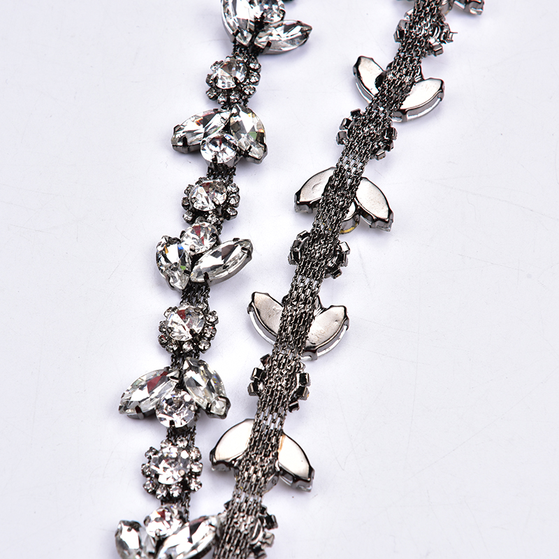 5 Yard/Lot Rhinestone Chain Plum Drill Trim Clothing Horse Eye Shape Rhinestone Cup Chain All-Match Diy Accessories Sew On Bags