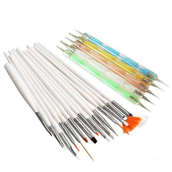 20Pcs Basic Nail Art Design Painting Dotting Pen Nail Draw Pen Brush ...