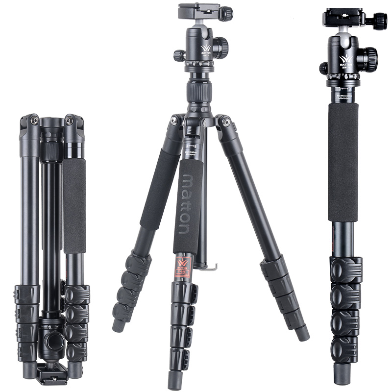 Matton T-255+BM-10 Professional Tripod camera tripod/Video Tripod/ Professional Multitube Tripod free shipping matton t 254 bm 10 professional photographic travel compact aluminum tripod for digital video mirrorless camera