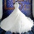 Vestidos Novia 2016 высокий воротник бальное платье свадебное платье само шеи спинки свадебные платья мантия де свадебная кристаллы бусины