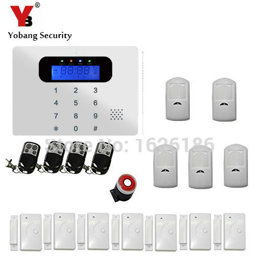 YobangSecurity Touch Screen GSM Alarm System Wireless Burglar Security Alarm System with Door Windor and Motion Sensor Detector forecum 433mhz wireless magnetic door window sensor alarm detector for rolling door and roller shutter home burglar alarm system