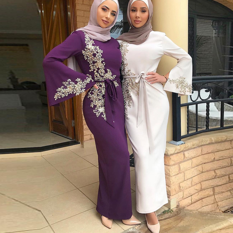 Abaya Dubai Turkish Muslim Hijab Dress Moroccan Kaftan Caftan Islamic Clothing For Women Dresses Robe Islam Ropa Arabe Mujer