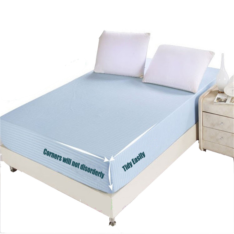 100% Cotton Printing Colorful Twin/Queen/King Size Fitted sheet mattress cover Fade Pilling - A-ONE Home Textile store