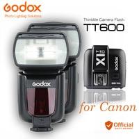 2x Godox TT600 2.4G Wireless Camera Flashes Speedlites + X1T C Transmitter Trigger for Canon EOS 550D 600D 700D 70D 6D Speedlite