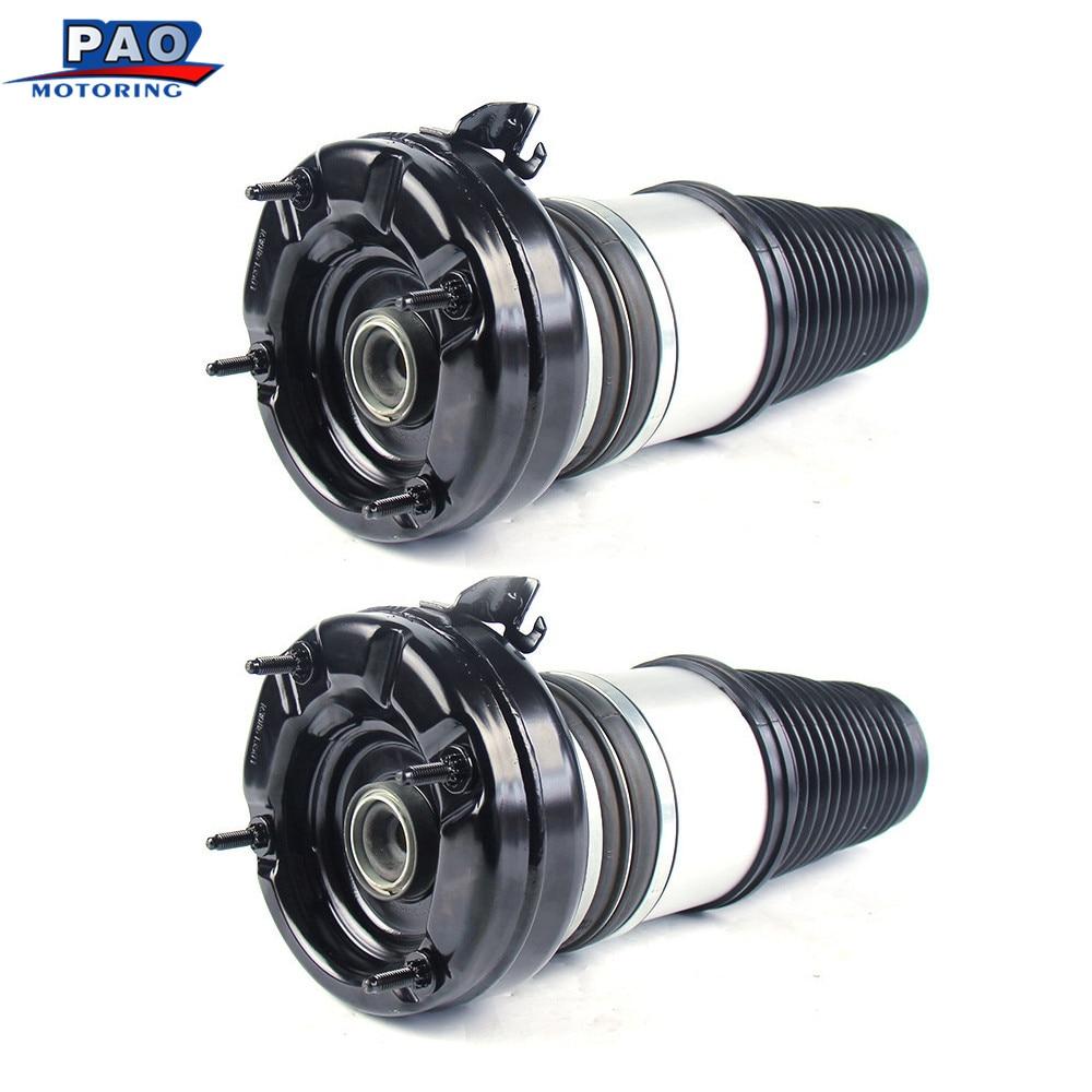 Pair Front Left and Right New Air Suspension Repair Bag For 2010 2015 Audi A8 Quattro Air Spring strut OEM 4H0616039AD,