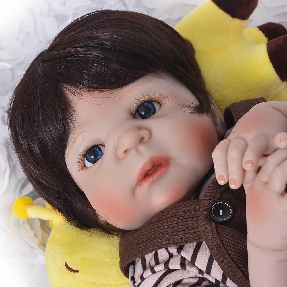 KEIUMI 23 Cal śliczne Reborn Boneca Boy Handmade silikon Reborn laleczka bobas Full Body Vinyl Babies zabawka dla dziecka urodziny prezenty